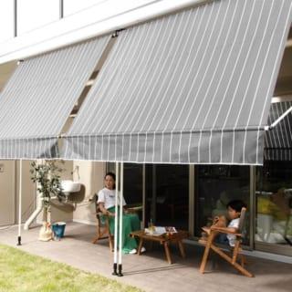 ベランピングやお庭カフェには簡単オーニング『CALME』